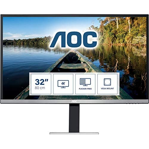 chollos oferta descuentos barato AOC Monitor U3277FWQ Pantalla de 32 UHD 3840x2160 FlickerFree 4ms Altavoces HDMI DisplayPort