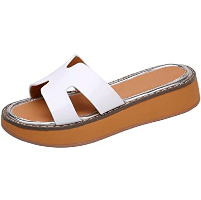 weiwei Damen Sommer Flach-Boden Flip-Flops,Bow Pantoffel-A Fußlänge=24.8CM(9.8Inch)