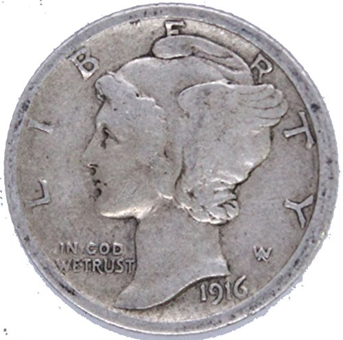 1916 P Silver Mercury Dime 10c Very Good #02