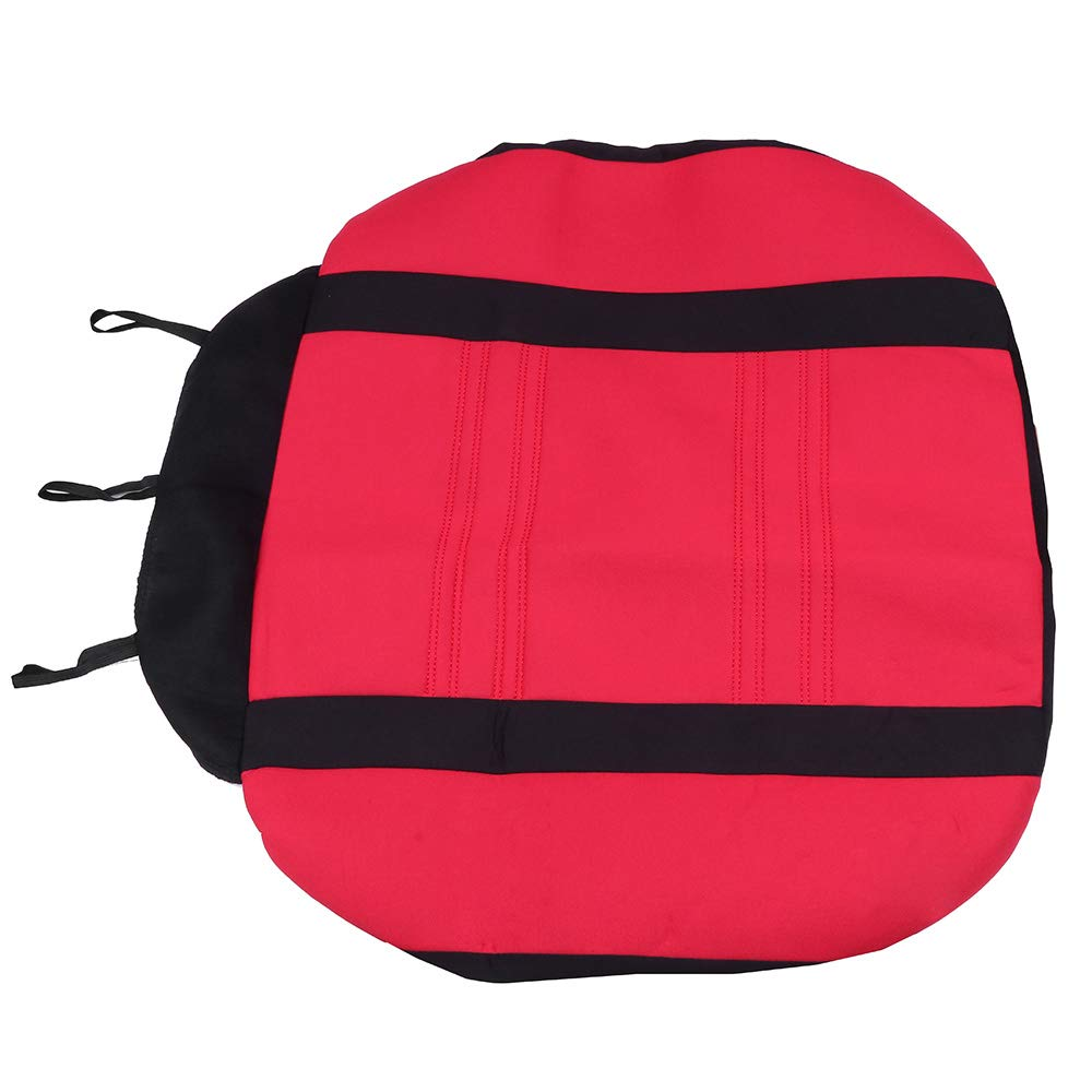 Universal Seat Cushion w//Headrest Cover//Steering Wheel Cover//Shoulder Pads 100/% Breathable Automotive Accessories with Durable Washable Mesh Cloth for Most Cars Black//Red OCPTY Car Seat Cover