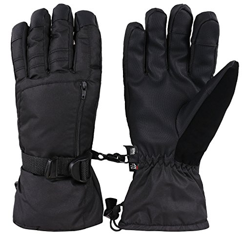 Livingston Men's Waterproof Thinsulate Insulation Ski Gloves with Zipper Pocket from Livingston