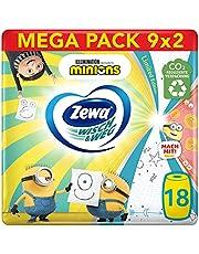 Zewa Wisch & Weg Fun Design keukenrol, megaverpakking, assorti design, 9 pakken (18 rollen x 72 vellen)