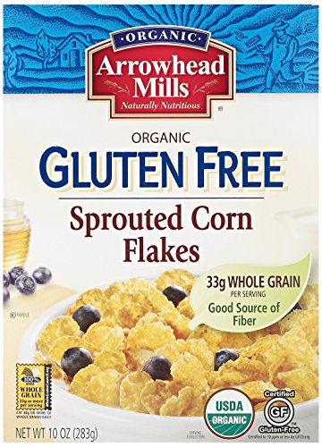 Arrowhead Mills Organic Gluten Free Sprouted Corn Flakes, 10 oz