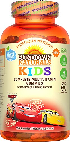Sundown Naturals Kids Disney Cars Complete Multivitamin, 180 Count