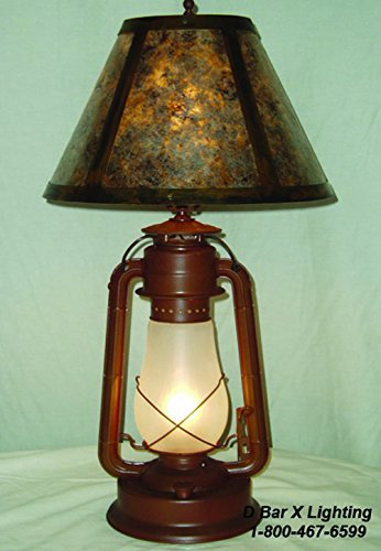 DX830-15 - Rustic 15-inch Dietz Blizzard Lantern Table Lamp With Mica ()
