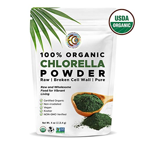 Earth Circle Organics - Certified Organic Chlorella Superfood Powder, Non-GMO Verified, Kosher, Cold Pressed, Broken Cell Wall, Vegan, High in Protein, Fiber & Amino Acids (1)