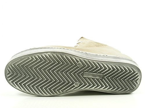 Andrea Conti 0341500 Scarpe Da Donna Tacco Basso Sneaker Beige Alto