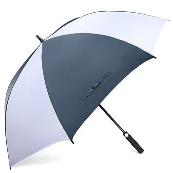G4Free 62 pulgadas de paraguas de golf abierto automš¢tico extra grande paraguas impermeable a prueba de viento de gran tama?o para hombres mujeres: ...