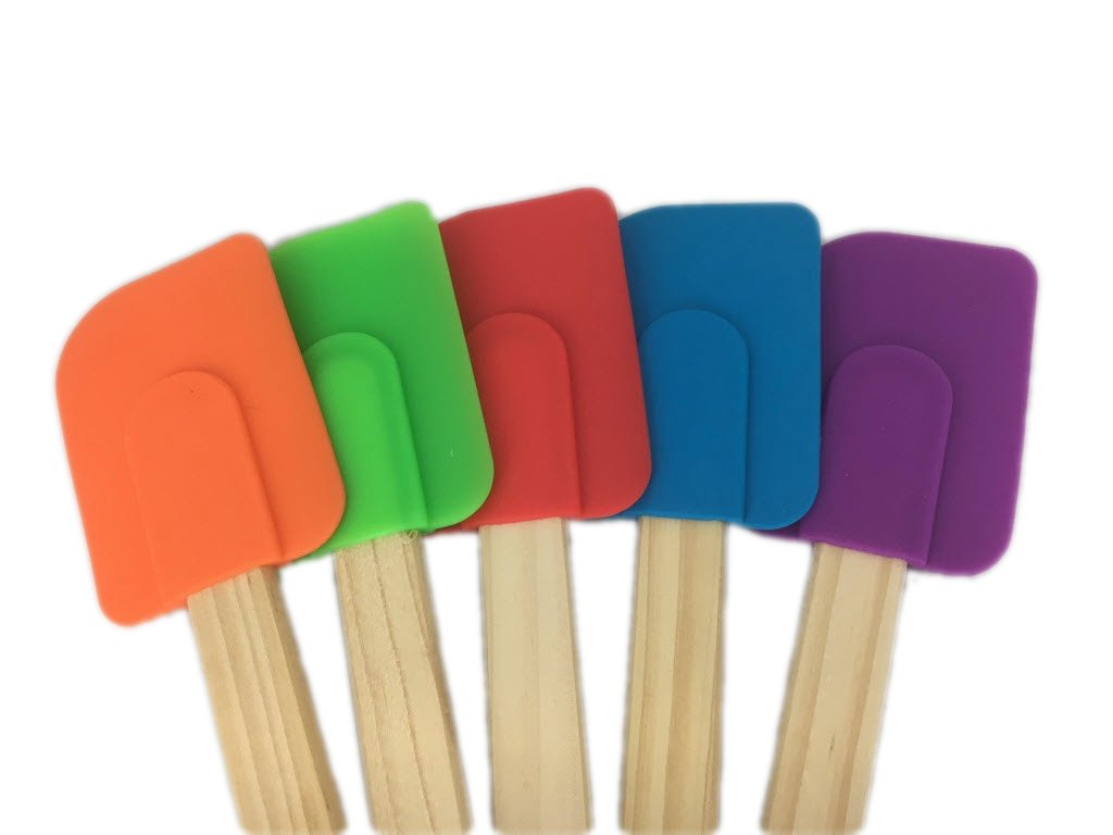 5 Piece Wood Handle Rubber Spatulas from Bamboo Style Concepts by Bamboo (Image #2)