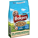 Bakers Complete Dog Food Tender Meaty Chunks Tasty Duck and Country Vegetables Dry, 14 kg
