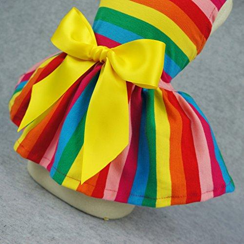 Fitwarm-Rainbow-Pet-Clothes-Dog-Dresses-Vest-Shirts-Sundress