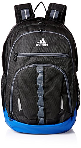 adidas Prime Backpack, Black/Collegiate Royal Blue/Onix, One Size