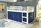 DONCO KIDS 780ATW_750C-TB Circles Low Loft Bed, Twin, White
