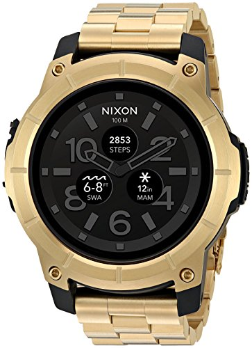 Nixon Men's 'Mission SS' Smartwatch Plastic and Stainless Steel Casual Watch, Color: Gold-Toned (Model: A1216)