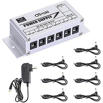 otraki 9v 12v 15v volt pedals power supply for guitar pedals 7 ports 100ma 300ma 3. Black Bedroom Furniture Sets. Home Design Ideas
