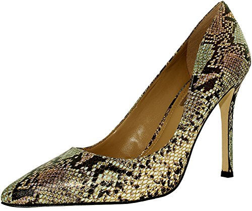 BCBGeneration Women's Treasure Snake Skin Cotton Candy Ankle-High Pump - 6.5M