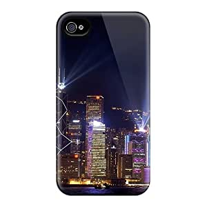 Mobilecasesbest Slim Fit Tpu Protector Fsu5754BOpP Shock Absorbent Bumper Cases For Iphone 4/4s