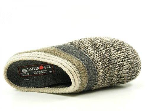 Haflinger 481045 Everest Just Pantuflas de tela para mujer gris