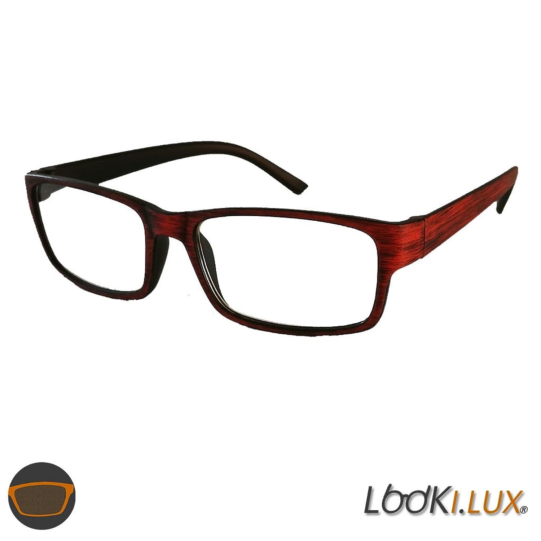 Lesebrille Lesehilfe Holz-Look Optik Nerd Brille Sehhilfe rqbY1AF