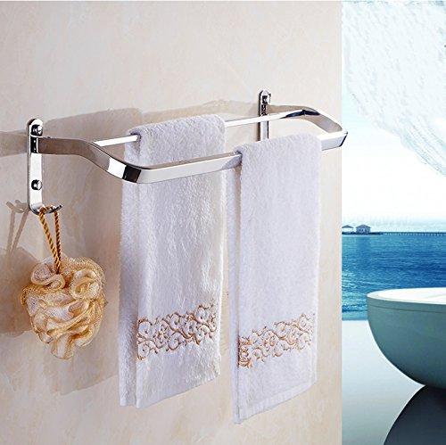 LYXPUZI Toallero sin Toalla bantilde;o bantilde;o bantilde;o Estante toallero Toalla Colgante Barra Doble Barra (Tamantilde;o : 80cm) a90f27