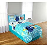 Disney Pixar Finding Dory Twin Sized 4 Piece Bedding Set -Comforter and Sheet Set