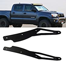 "TURBO SII 42"" Inch Curved Led Work Light Bar Upper Roof Windshield Mounting Brackets for For 2005 - 2015 Toyota Tacoma"