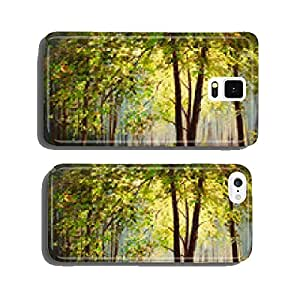 Oil Painting landscape - summer forest, colorful abstract art cell phone cover case Samsung S6