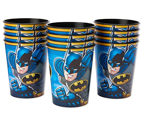 American Greetings Batman Party Supplies, 16 oz. Reusable Plastic Party Cup, 12-Count]()
