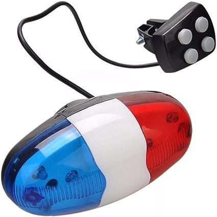 Starnearby 6 LED bicicleta policía luz delantera señal de ...