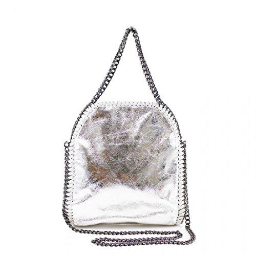 Bag Small Chain Tote Work Stella Ladies Detail Handbag Silver Design Shoulder Ladies BIxYqE1