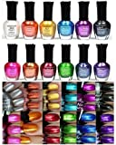 Kleancolor-Nail-Polish-Awesome-Metallic-Full-Size-Lacquer-Lot-of-12-pc-Set-Body-Care-Beauty-Care-Bodycare