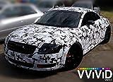 VViViD Snow Camouflage Vinyl Car Wrap Adhesive