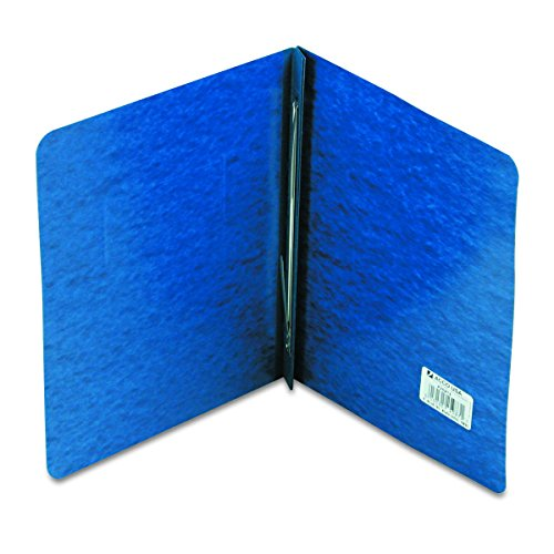 ACCO Pressboard Report Cover, Side Bound, Tyvek Reinforced Hinge, 8.5 Inch Centers, 3 Inch Capacity, Letter Size, Dark Blue - Acco Pressboard Hinge Side