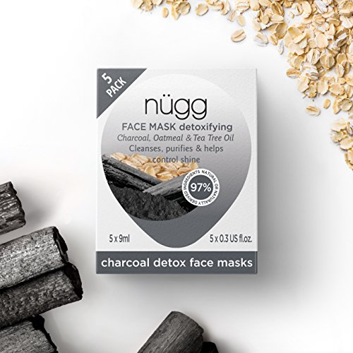 nügg Black Charcoal Face Mask; Cleanses, Detoxes, Soothes and Reduces Shine; for Normal, Oily, Combination and Acne-Prone Skin; Non-Drying Gel Formula; 5 (Acne Prone Skin Formula)