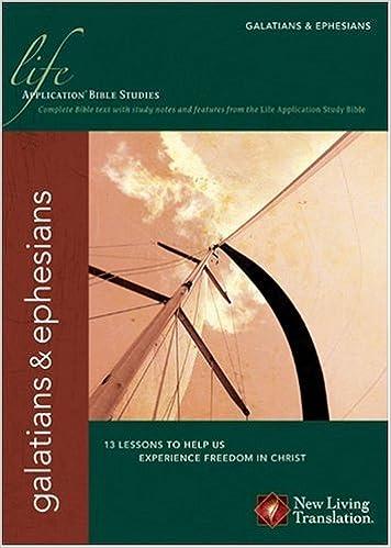 Amazon Com Applicationhelp >> Galatians Ephesians Life Application Bible Studies Nlt