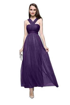 Beauty-Emily A-Linie Halfter Ohne Arm Rückenfrei Plissees Abendkleider   Amazon.de  Bekleidung b3f4065042