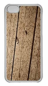 iPhone 5C Case, Personalized Custom Wooden Floor 2 for iPhone 5C PC Clear Case