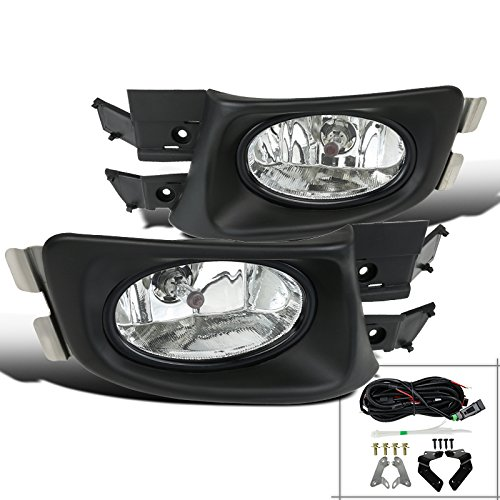 For Honda Accord 4 Door Clear Lens Front Bumper Driving Fog Lights+Bulbs+Switch ()