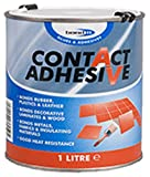 CONTACT ADHESIVE GLUE 1 LITRE TIN BONDS RUBBER PLASTIC LEATHER LAMINATES WOOD FABRIC METALS GLUES AND ADHESIVE ALSO GOOD HEAT RESISTANCE