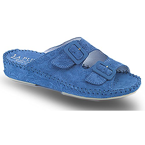 La Plume Jen Vrouwen Sandalen Denim Tooled