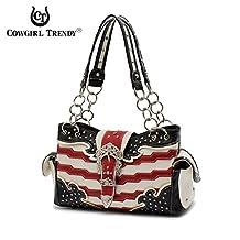 Western Handbag Stars and Stripes American Flag Shoulderbag