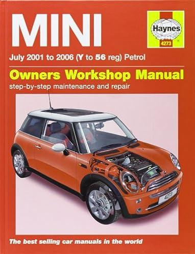 mini petrol service and repair manual 2001 to 2006 haynes rh amazon com Corvette Owners Manual 2006 mini cooper owners manual pdf