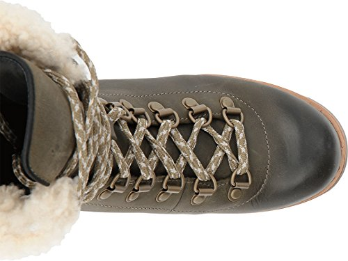 Sorel Women's Leather Conquest Wedge Holiday Boots Fawn Nori/Stone O2xSX