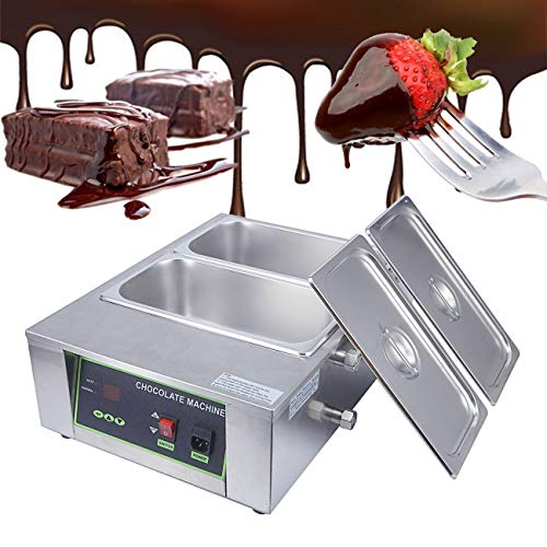 - BEAMNOVA Chocolate Melting Pot Machine 2 Tank Commercial Electric Melter For Candy Making 17.6lbs Capacity Chocolate Heating Machine Heater