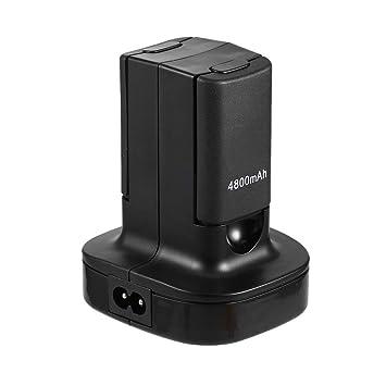 symboat Base de carga estación de carga con 2 baterías recargables para mando de consola Xbox360
