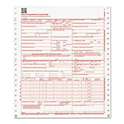 CMS Forms, 1 Part Continuous White, 9 1/2 x 11, 2500 Forms, Sold as 2500 Sheet