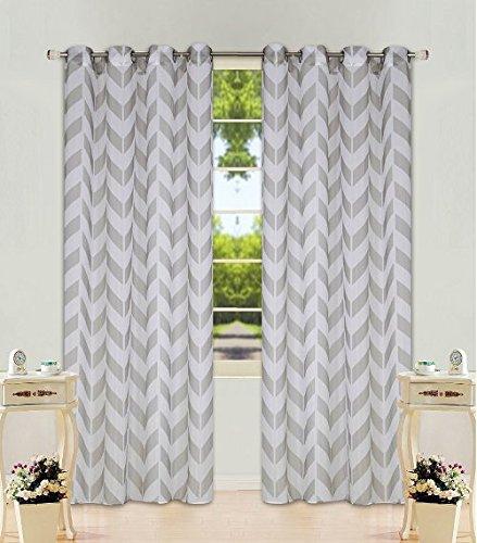 gorgeoushomelinen-s37-2-chevron-pattern-design-voile-sheer-two-tone-window-treatment-curtain-drape-p