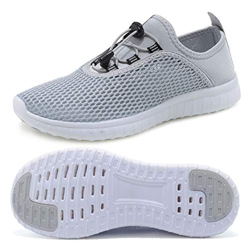 FCKEE Water Shoes for Women's Quick Drying Sports Aqua Shoes Outdoor Sneakers,USFSX03,Grey-41