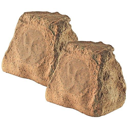 OSD Audio RX550 5.25-Inch Woofer Outdoor Rock Garden Patio Speakers (Sandstone Brown - Pair) (Sandstone Footwear)