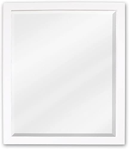 Elements MIR066 Adler Collection 28 Inch Bath Mirror, Painted White Finish